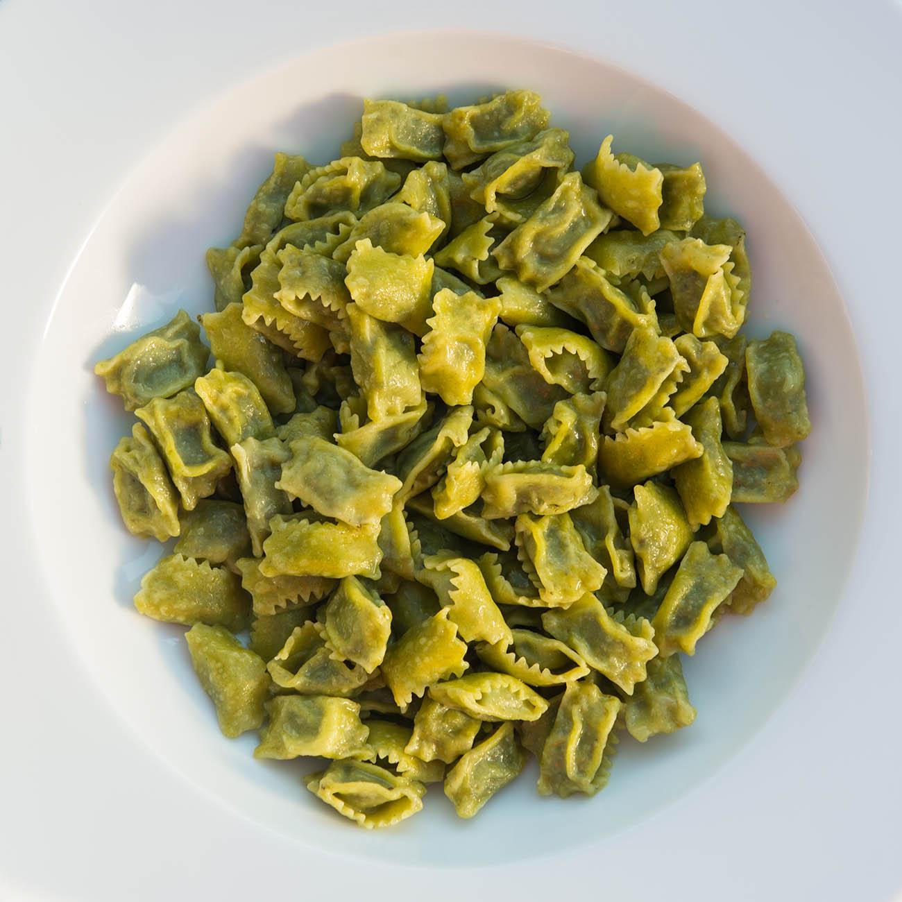 Agnolotti del plin, piatto tipico piemontese.